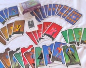 """destash VINTAGE TAROT CARDS  --- incomplete deck-- lot of 40 """"Live and Let Die"""" cards in original box, for mixed media, collage, etc."""