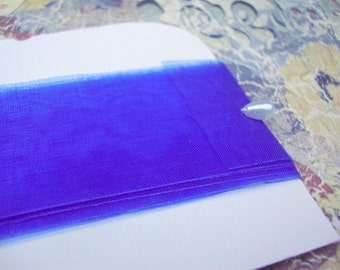 sheer acetate RIBBON (royal blue) -- 108 inches/3 yards
