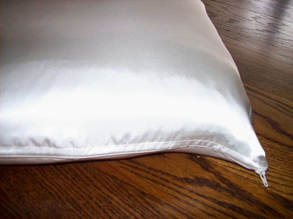 Pair Of Standard Size Zippered Super Soft Satin Pillowcases