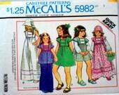 Vintage 1978 McCalls 5982 sewing pattern Dress Top Hat and Basket Toddler Size 3