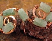 Copper and Adventurine Ring