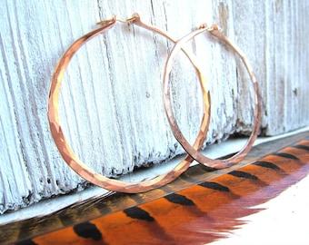 Ginger Hoops 14k ROSE GOLD Filled