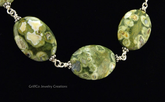 Rhyolite and Sterling Necklace