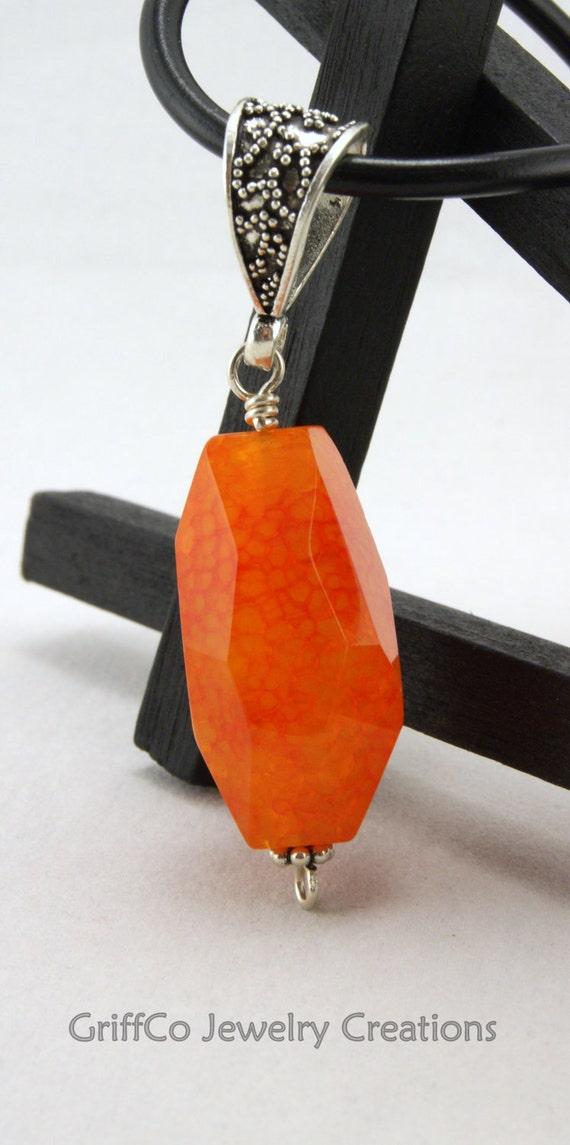 Orange Chunky Agate Pendant