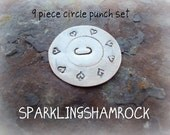 METAL STAMPS BORDER circle punch design texture stamp 9 pieces from 3/32 to 1/2 inch VeRy CoOl - check it out