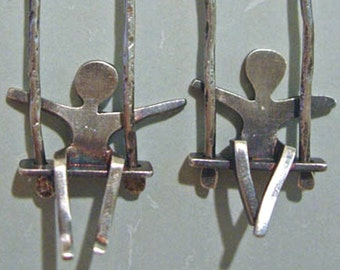 Swingin' Jack Earrings     oxidzed sterling silver