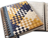 Handmade Diagonal  Weekly Day Planner on Etsy, hand woven in satin ribbons