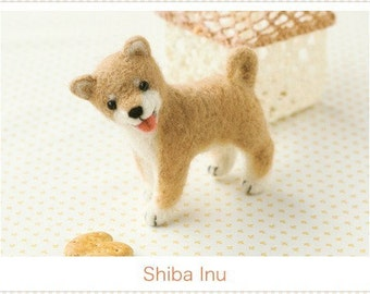 Japanese Felt Wool Dog Kit Package Shiba Inu DIY handmade Gift