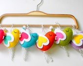 Easter, Spring Themes, Colorful, Heart of Wing Bird Favor or Hanging Ornament (Custom Colors Available)