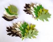 72 Piece Die Cut Felt Leaves