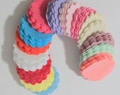 40 Piece Felt Die Cut Scallop Circles- Pastel Colors For Spring, Easter Themes