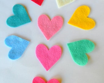 24 Piece Die Cut Felt Small Hearts- For Valentine Day DIY Kit