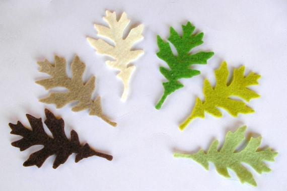 36 Piece Die Cut Felt Leaves