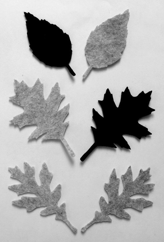 36 Piece Iron On-No Sew- Die Cut Felt Appliques-Leaves