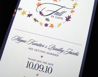 Fall In Love Save The Date Card