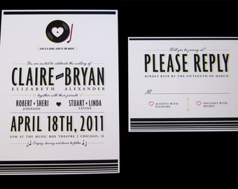 Music Lovers Wedding Invitation