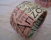 Upcycled Chunky paper wrapped State Bracelet in a plus size