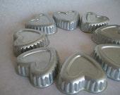 Vintage Tiny Little Heart Tart Molds set of 8