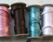 Italian Satin 3/8 Width (Double Faced) - Pearl Finish 30 feet -- 6 colors available --REDUCED PRICE--