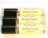 Vanilla Cream Perfume Oil - Roll On - African Vanilla Bean Sandalwood Sweet