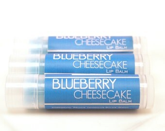 CLEARANCE SALE - Blueberry Cheesecake Beeswax Lip Balm Gloss Shea Butter Cocoa Butter