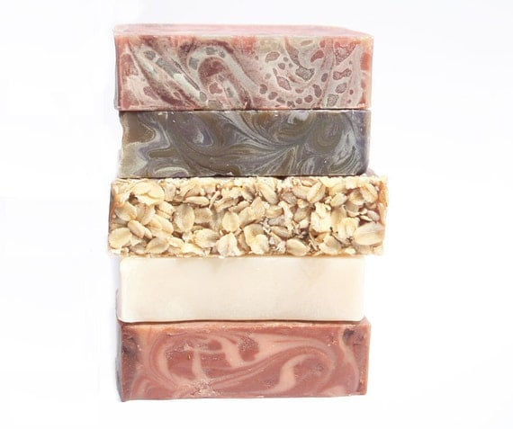 Soap Set - Pack of 5 Soaps - Sample different scents and SAVE