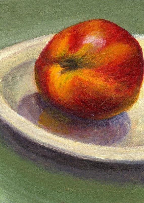 Original ACEO Painting Fruit Still Life Small Format Art Summer Decor