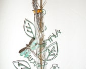 Dragonfly And Leaves Window Sun Catcher Vase
