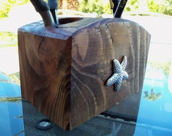 Handmade wood organizer