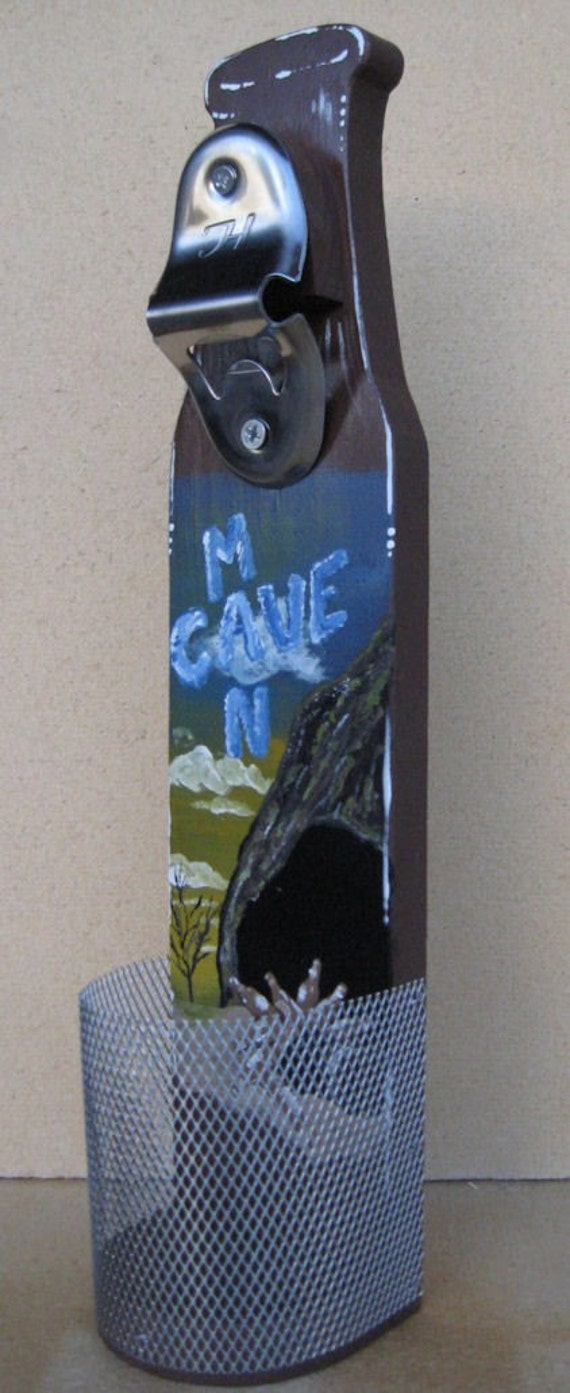 Wall mounted beer bottle opener with cap catcher man cave - Wall mounted beer bottle opener cap catcher ...