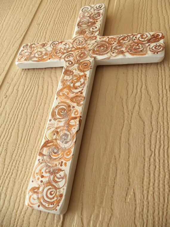 Copper Bronze and Gold Sparkling Celebration Cross