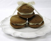 Gingerbread Whoopie Pies with Egg Nog Buttercream