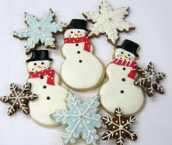 Snowman/Snowflake Cookies