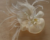 white wedding feathered flower