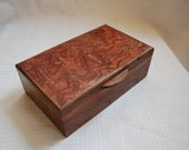 Walnut, Figured Bubinga and Bubinga Jewelry Box