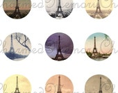 ON SALE!!! Eiffel Tower Printable Digital Collage Sheet (2) for 18mm Charms France, Paris, French Ephemera Digital Download INSTANT Download