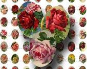 Vintage Rose Digital Collage Sheet - Victorian Postcard, Ephemera, Floral, Antique, Old 25mm x 18mm for Charm Pendants - INSTANT Download