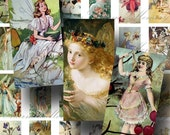Fairy Digital Collage Sheet ON SALE!!! Digital Download Vintage Fairies Domino #1 INSTANT Download