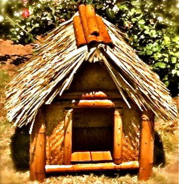 items similar to tiki dog house on etsy With tiki dog house