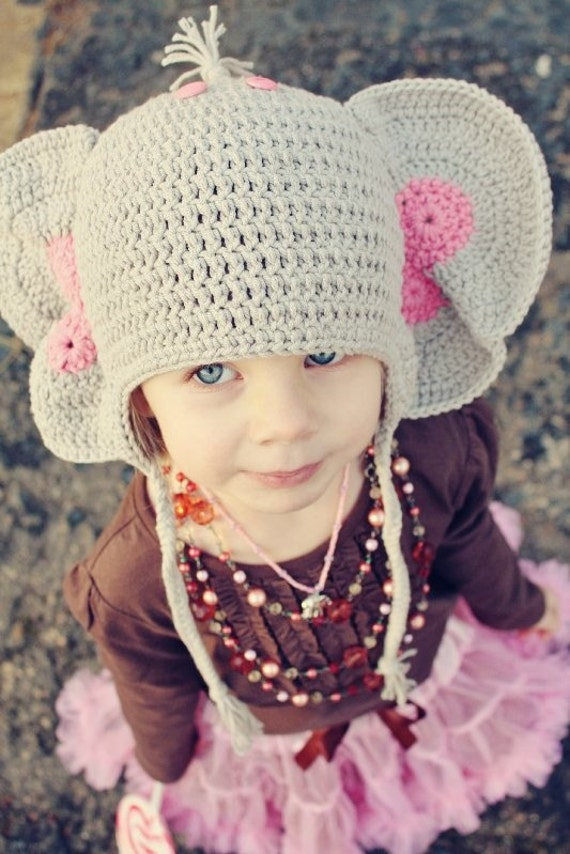 Peanuts the Elephant Costume Crochet Beanie by ...