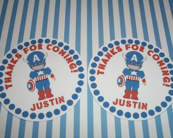 Captain America gift tags