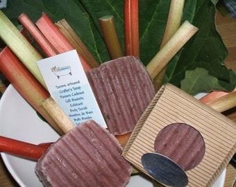 Vegan Rhubarb Dandelion Soap