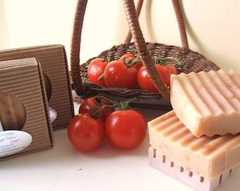 Coconut Milk and Garden Tomato Vegan Soap