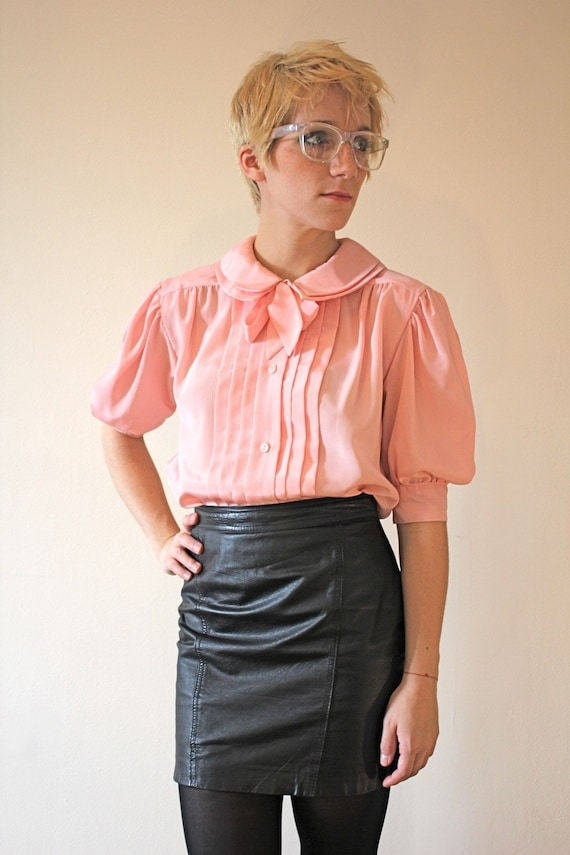 RESERVED /// bubblegum pink oscar bow blouse /// RESERVED