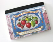 Strawberry Fields Forever Shabby Chic - Mini Altered Journal by glamazon08 on Etsy