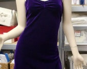 Purple Velvet Mini Dress Sweetheart Neckline Short Prom Dress SALE