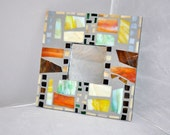 Multli colored mosaic mirror