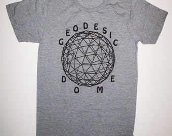 Geodesic Dome T Shirt Sizes S, M, L, XL heather gray r. buckminster fuller