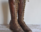 r e s e r v e d...vintage antique rare 1920s Wild Wild West leather lace up boots