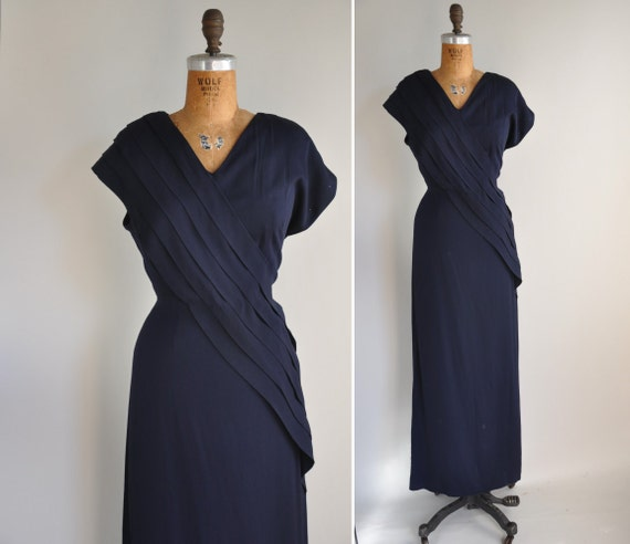1940s dress / vintage 1940s 40s rayon cocktail dress /  Late Night Drinks